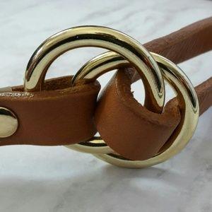 NWOT Ann Taylor Genuine Leather Belt Camel/ Tan
